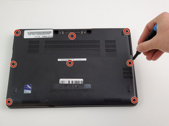 Remove all eight M2.5 X 8MM screws with a  Phillips #00  screwdriver.
