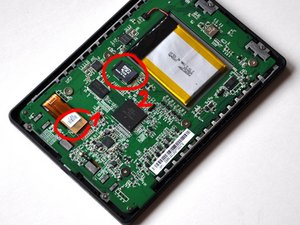 How to reconnect the ribbon cable on a Kobo Touch after dropping it