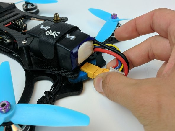 Unplug the power cable of the drone to eliminate unnecessary mishaps.