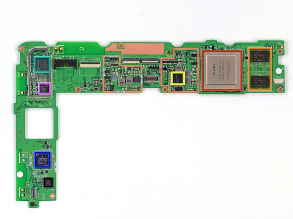 Here she is, the motherboard:
