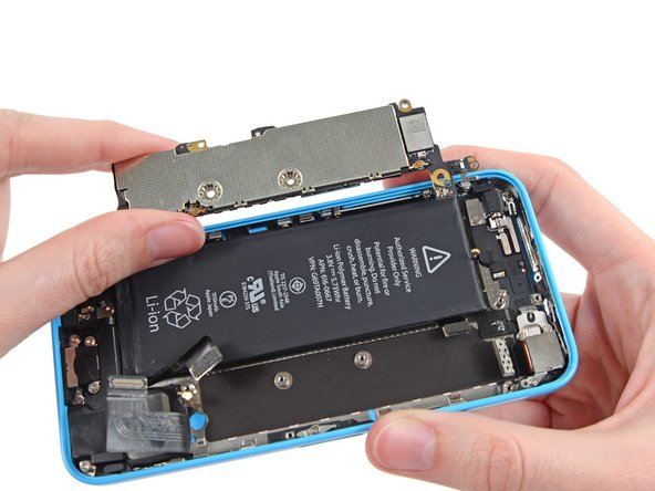 Remove the logic board from the iPhone.