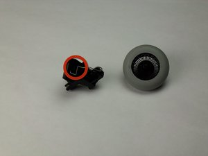 Disassembling Logitech MBJ58 Mouse Scroll wheel from mount