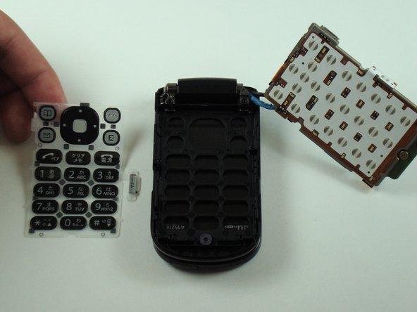 Disassembling KDDI Kyocera A5521K Keyboard