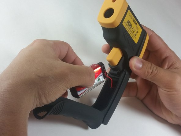 Gently pull the battery out of the handle.