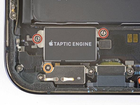 Remove the three screws securing the Taptic Engine: