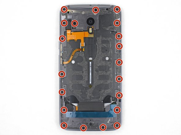 Use a T3 Torx driver to remove twenty 2.4 mm screws.