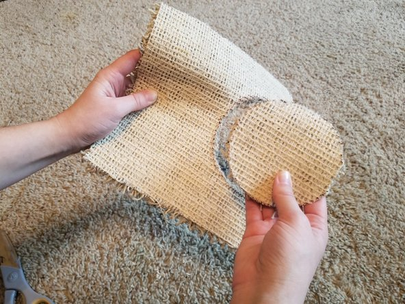 Check to make sure the replacement piece of carpet fits into the hole.