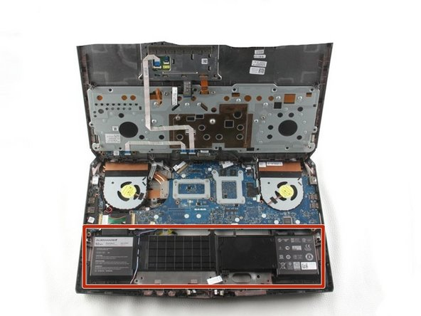 Alienware 17 R2のバッテリー交換