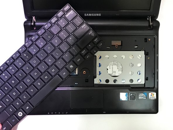Manually remove the keyboard from the device.