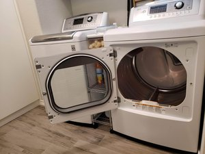 How to Fix the Door Swing Direction of an LG DLEX5170W SteamDryer Clothes Dryer