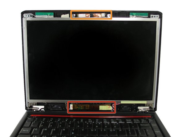The screen is attached to the webcam at the top and the inverter at the bottom.  Disconnecting the screen from these two components will give some slack when removing the screen.