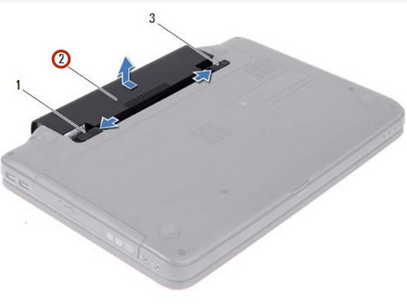 Slide the NEW battery into the battery  bay until it clicks into place.