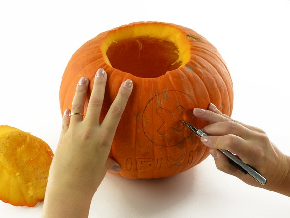 We didn't find our favorite screw-type in Pumpkin, so we're going to put it on Pumpkin.