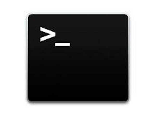 """Search for """"Terminal"""" in Spotlight and click return to open it."""