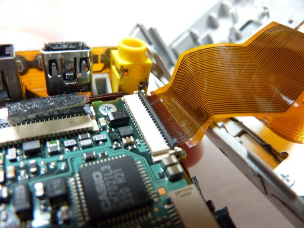 Pull the ribbon cable out.