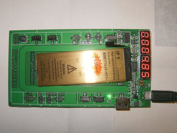 Gold Battery is fully charged at 4.85 V on an K9201 Fast Battery Charger Activation Circuit Tester