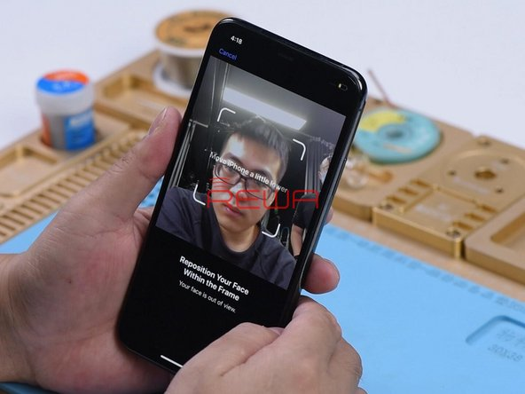 """Go to Settings > Face ID & Passcode > Set Up Face ID. When trying to set up Face ID, """"Move iPhone a little lower/higher"""" pops up. Face ID cannot be normally set up. It can be judged that the dot projector of the Face ID has malfunctioned."""