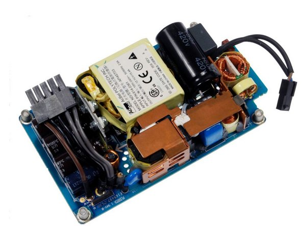 """iMac Intel 20"""" EMC 2105 and 2118 Power Supply - short cut method avoids removing logic board Replacement"""