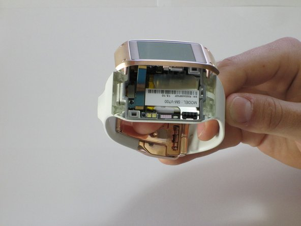After separating the LCD/motherboard from the actual watch itself, the watch should be in two separate pieces.