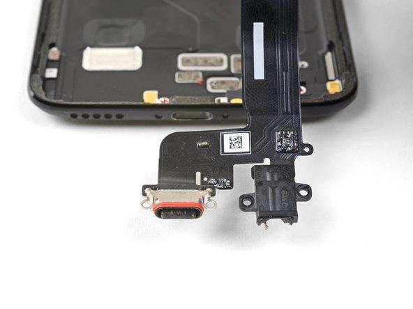 Remove the charging port/headphone jack.