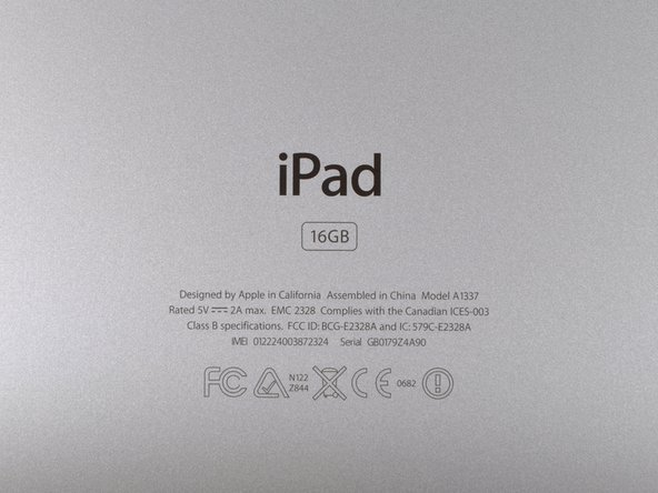 iPad的型号是A1337,正如之前FCC文件备注的那样。是的,我们认为那是l33t。