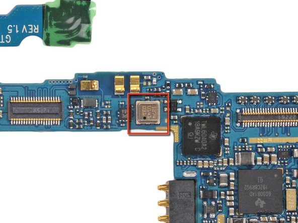 """The chip labeled as 274 U141 031 hides the Bosch BMP180 MEMS Pressure Sensor, which should be responsible for the """"Barometer"""" feature inside the Nexus."""