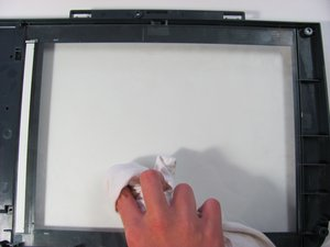 How to clean the HP PSC 2410 Photosmart All In One Printer scanner glass