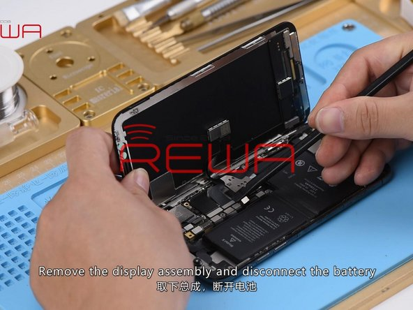 In the first place, remove the display assembly, disconnect the battery, and take out the motherboard.
