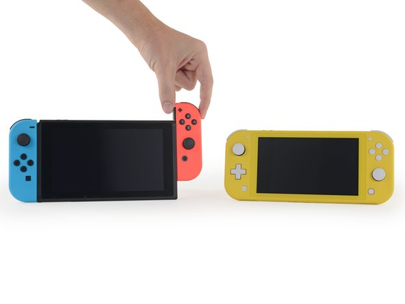 We yanked really hard on the controls in the hope of scoring two new bright yellow Joy-Cons, but alas, they don't detach.