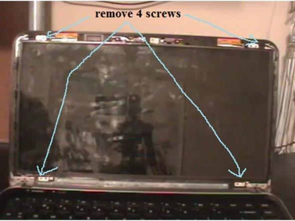Remove 4 screws of screen holder