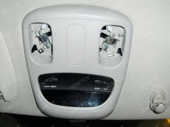 There are a couple ways you can power up this LED. You have the choice of adding a switch or just using the truck's interior light switch. For demonstration purposes, we are using the truck's interior lights to power up the entire assembly.