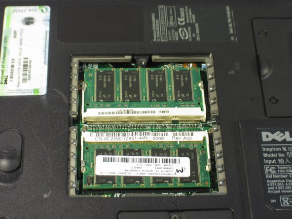 Dell Inspiron 9100 Memory Replacement
