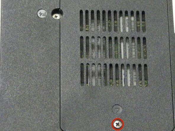 Loosen 1 Phillips 4.2 mm size captive screw and lift cover off device to expose 2 RAM sticks.
