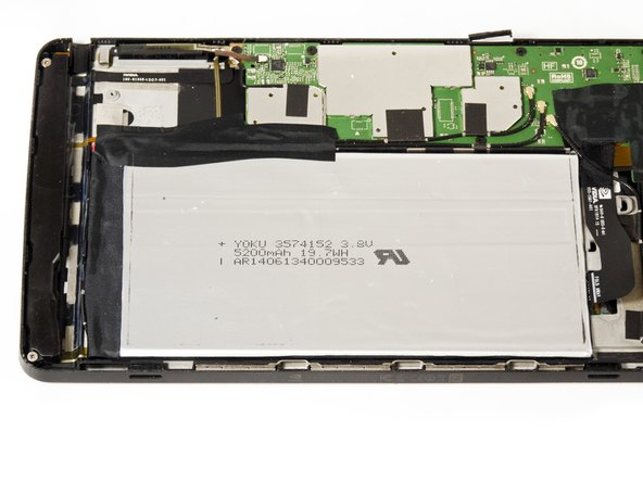 Make sure to rotate your tablet so the large silver battery is closest to you.