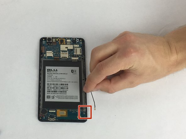 Disconnect lower PCB antenna connection.