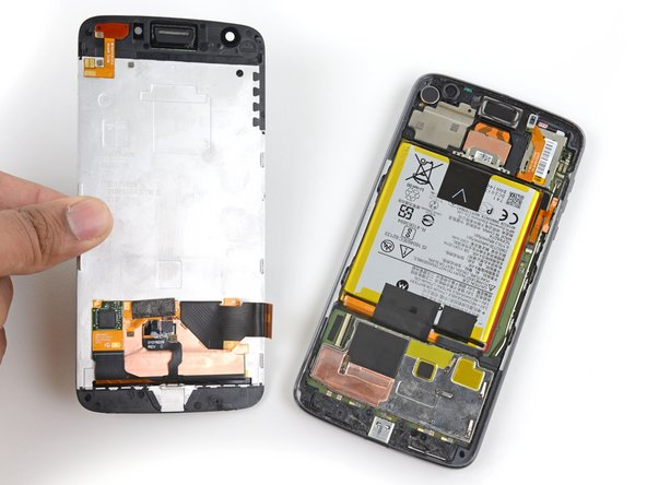 Remove the screen assembly.