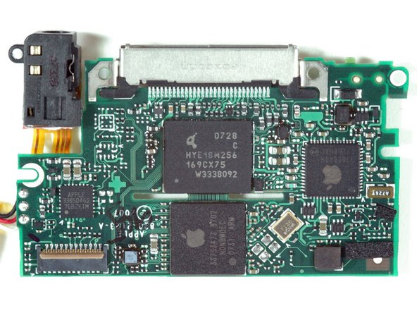 A close-up of the logic board's bottom.