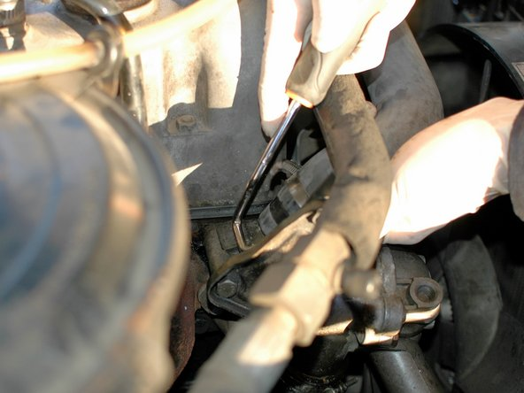 Then use a hose clamp removal hook or other appropriate tools to work around under the edge of the hose. This will help break them free; they often stick to the necks they attach to over time.