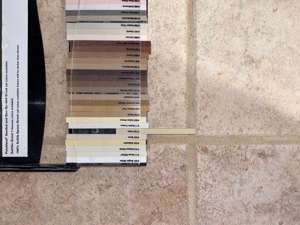 Color match your grout by using grout samples to get your desired color of grout.