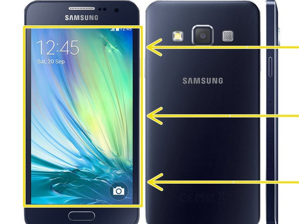 Samsung Galaxy A3 2015 Glass / Touch Replacement