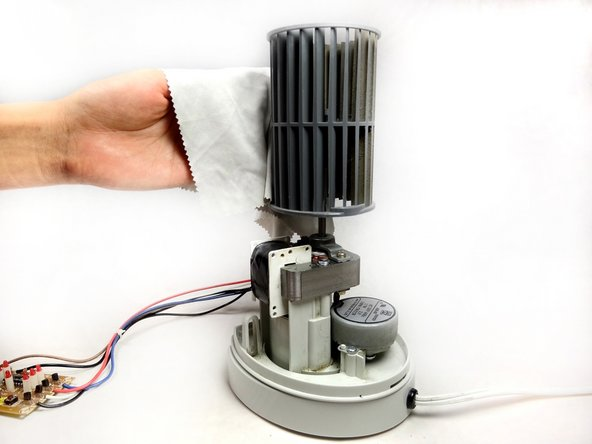 Removing the Tower Fan Rotating Blade and Transformer