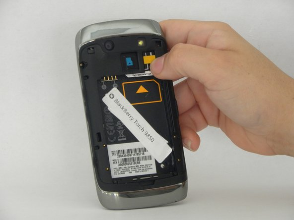 Removing the sim card.