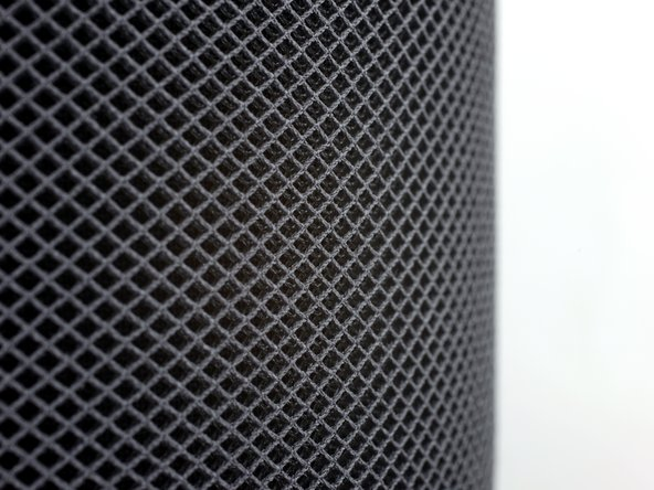 Next we take our first good look at Apple's seamless 3D acoustic mesh.