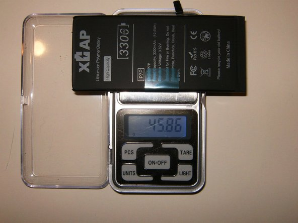 Now the XCAP battery. Weight is 45.86gram