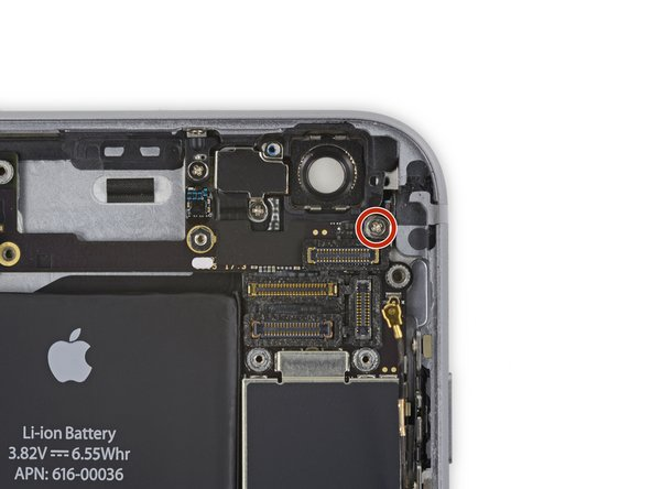 Remove the 1.3 mm Phillips screw securing the NFC bracket to the logic board.