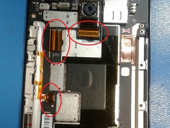 We will be removing these 3 ribbon cables.