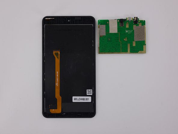 The display, digitizer, and camera cables can be disconnected without removing the motherboard.