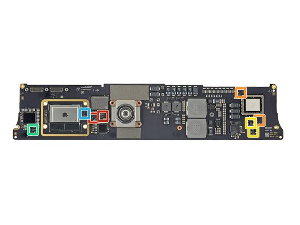 Back side of the logic board, continued: