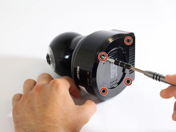 Retirez les quatre vis cruciformes n ° 1 de 14 mm.