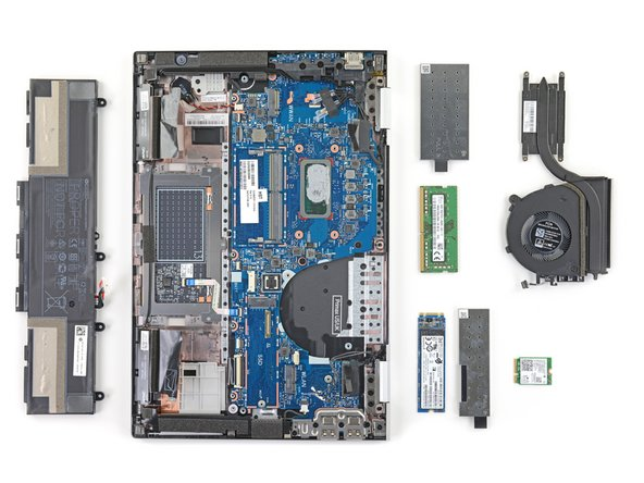 Several important components are available for removal as soon as the lower cover is removed.